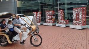Pedicab at Velo-City venue