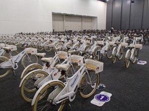 Velo-City delegates bikes