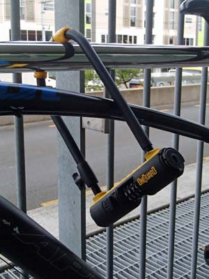 example of bike locking