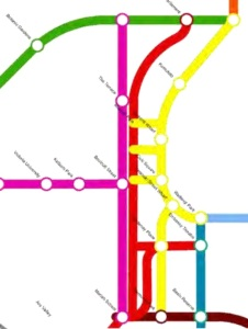 Part of the Cycling Framework network map