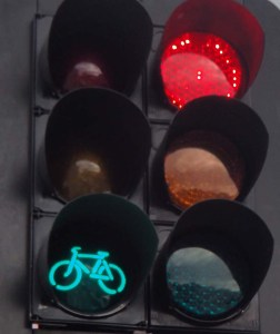 Bike signal at Abel Smith Street