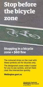 Poster encouraging motorists to avoid the ASBs.