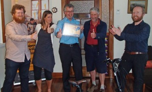Some of the people involved in Ciclovia: Alex Dyer, Claire Pascoe, Ron Beernink, Alastair Smith