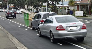 Car parked on cycleway buffer zone