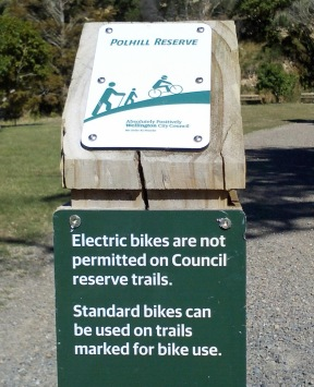 WCC eBike ban photo, Polhill Gully