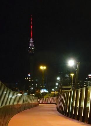 Light path at night