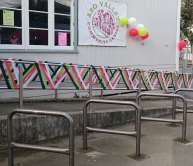 Bike stands at Aro Community Centre