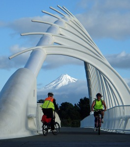 Te Rewa Rewa bridge on coastal walkway