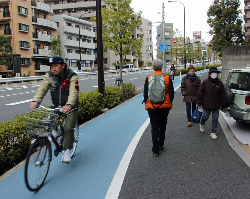 bike/pedestrian sharing