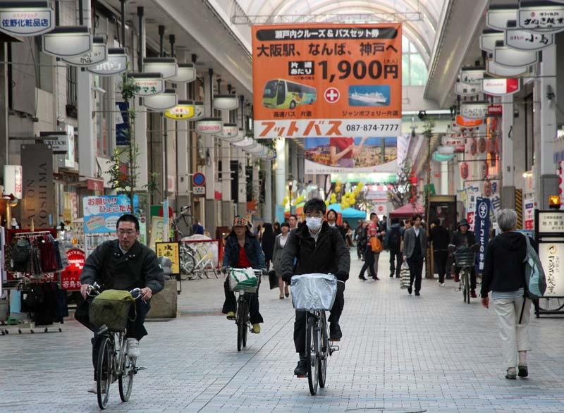 Mall cycling, Takamatsu