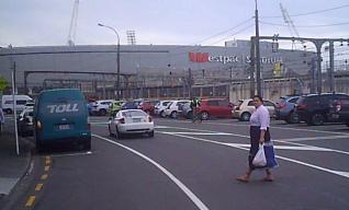 Pedestrian crossing TQ